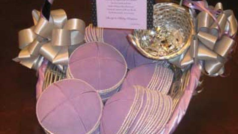 Invitation Yarkmulke Basket – Lavender