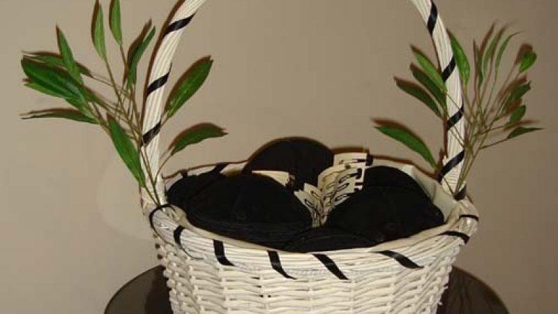 Panda Theme Yarmulke Basket
